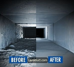 Air Duct Cleaning Before & After